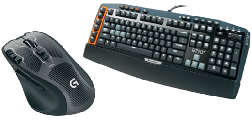 logitech G710 gaming keyboard and mouse